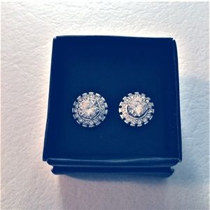Avon Convertible Halo CZ Stud Earrings